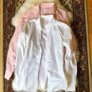 Brooks Brothers Lot of TWO Women's Dress Shirts